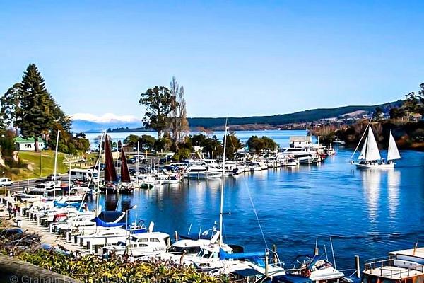 Taupo Boat harbour thru to Tongariro national park - NZ Scenery - Graham Reichardt Photography