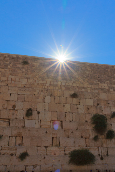 The Sun Peeking Over the Western Wall by Brad Balfour