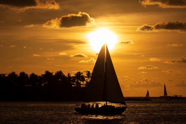 Key West Sailing Sunset by Brad Balfour