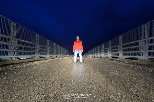 Rainy Bridge Selfie - Portraits - Boaz Yoffe