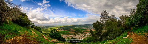 Tavor Shvil Israel mountain view - Pano - Industrial photography