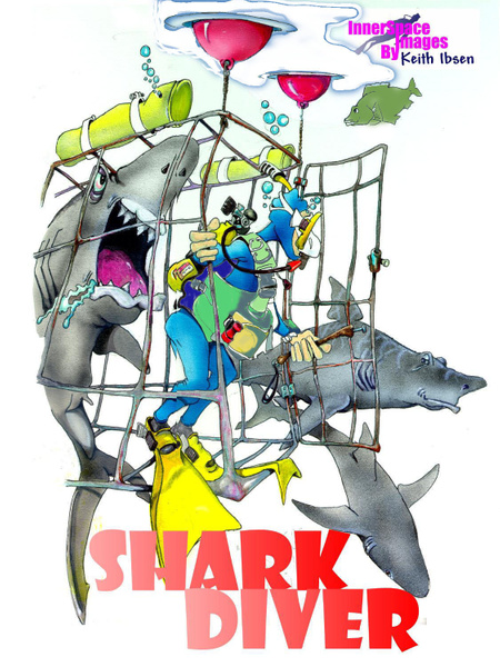 Dump sharks color1 - Illustrations - Keith Ibsen Photography