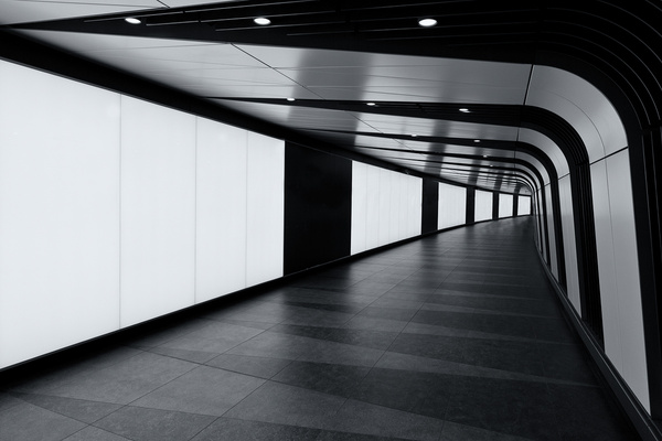 Kings Cross LED Tunnel - Architectural photography -Delfino photography