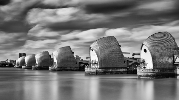 Thames Barrier - Architectural photography -Delfino photography