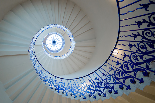 Tulip Staircase - Architectural photography -Delfino photography