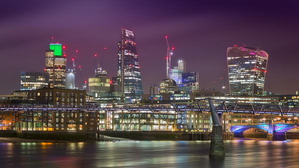 The new London at night - Urban landscapes - Delfino Photography