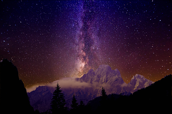 Milky way over the alps - Landscape photographyDelfino photography