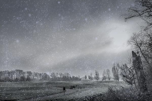Golf sous la neige by Dominique-Bruyneel