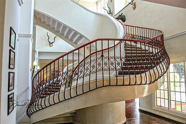 Staircase, Victoria Falls Hotel by DavidParkerPhotography