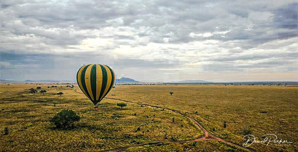 Hot Air Balloon over the Serengeti by...