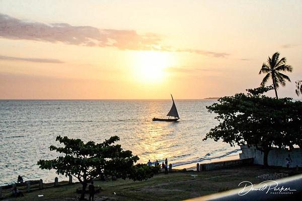 Dhow at Sunset, Zanzibar = from  Africa...