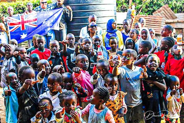 Aussie in Kenyan School by DavidParkerPhotography