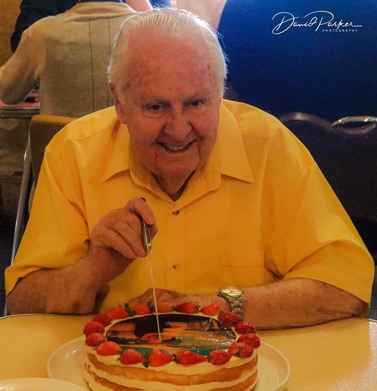 Dad cutting his 80th Birthday Cake!