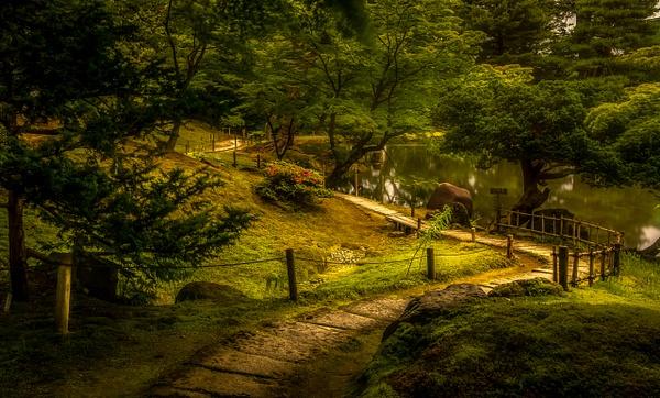 japanese garden-path-pond