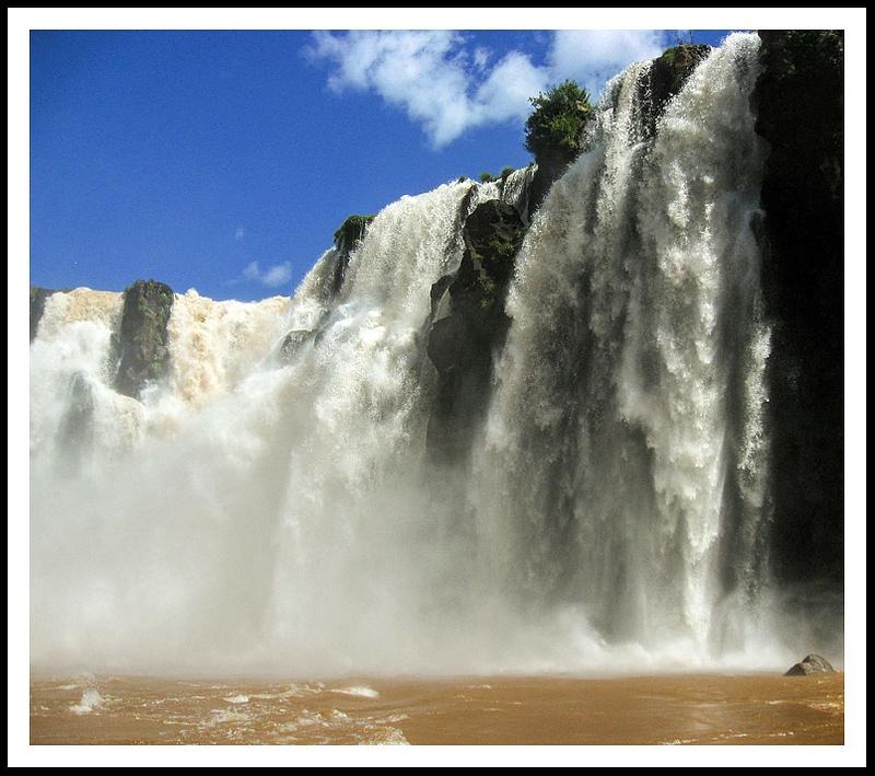 40 Close up Iguazu Falls, Brazil side