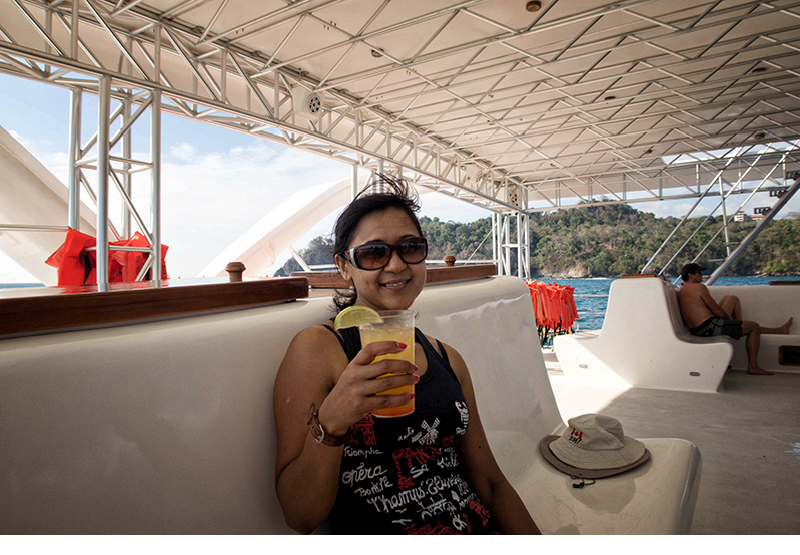 drinks on the boat