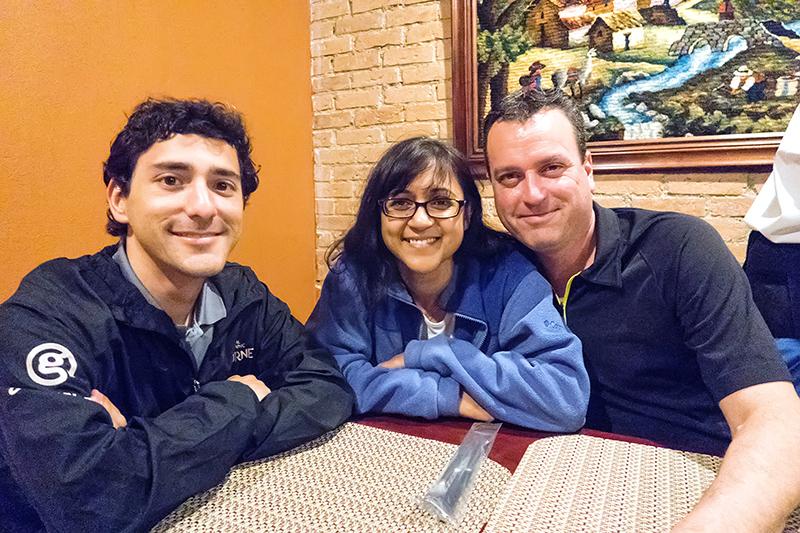 last meal at peruvian resto San Jose with Guide Daniel and Matt