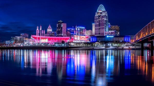 Cincinnati Skyline  Night-2 - Nature - Fred Copley Photography