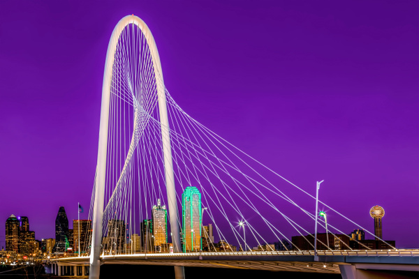 Dallas Skyline Purple - Cityscapes - John Roberts - Clicking With Nature®