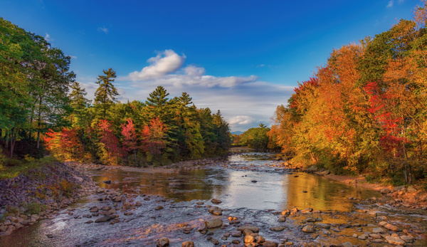 Colorful Saco River New Hampshire - Clicking with Nature Photography