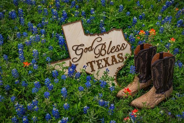 God Bless Texas - Texas - John Roberts - Clicking With Nature®