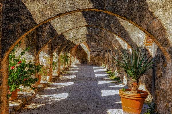 Mission San Jose_Convento arches_5Q2A4635 - Texas - John Roberts - Clicking With Nature®