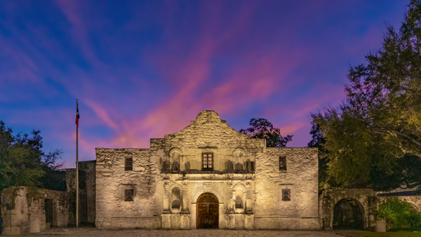 The Alamo at Sunrise - Texas - John Roberts - Clicking With Nature®