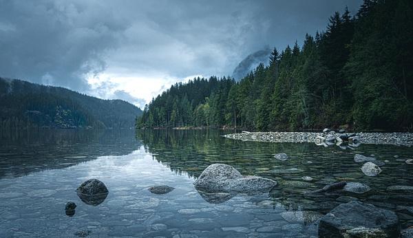 Buntzen Lake on a Rainy Day - Landscape - McKinlay Photo