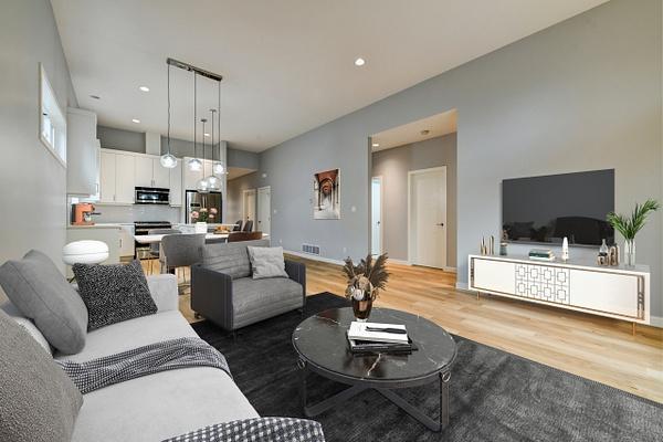 LivingKitchen_stg - Virtual Staging - Stellar Real Estate Marketing