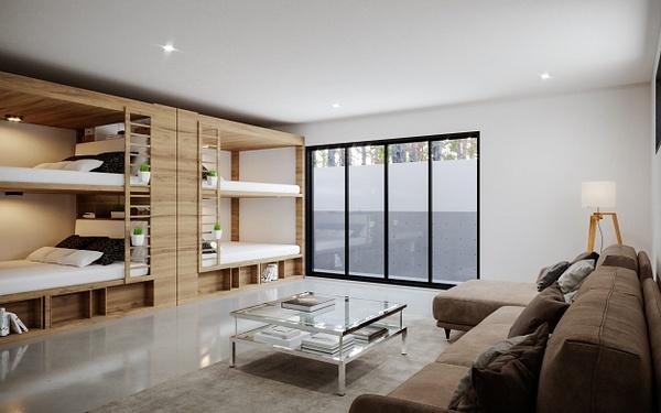 Interior_BunkRoom - Rendering - Stellar Real Estate Marketing