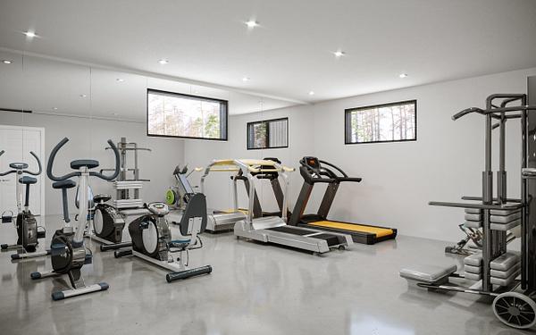Interior_Gym - Rendering - Stellar Real Estate Marketing