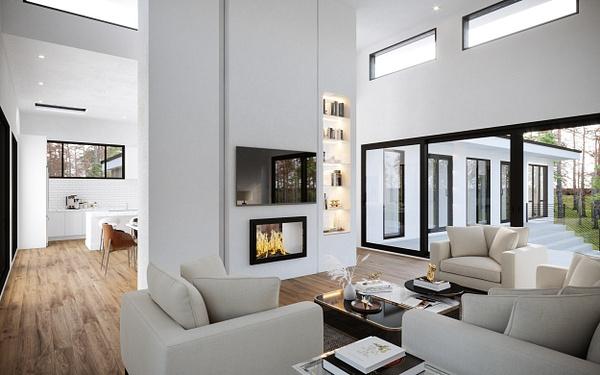 Interior_LivingRoom - Rendering - Stellar Real Estate Marketing