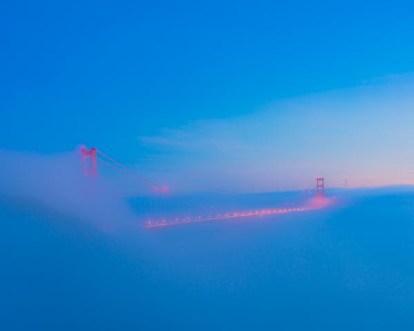 San Francisco_Golden Gate Bridge_Low Fog_Sunset - Home - Stan Pechner Photography