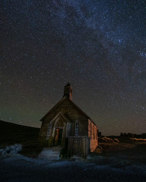 Bodie State Park_Milky Way_Church - Nocturnal - Stan Pechner
