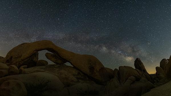 Joshua Tree_Arch Rock_Milky Way - Nocturnal - Stan Pechner