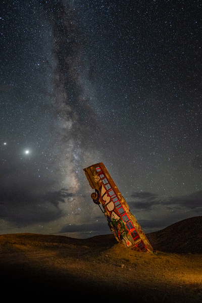 International Car Forest of the Last Church_Milky way_Goldfield, NV - Nocturnal - Stan Pechner
