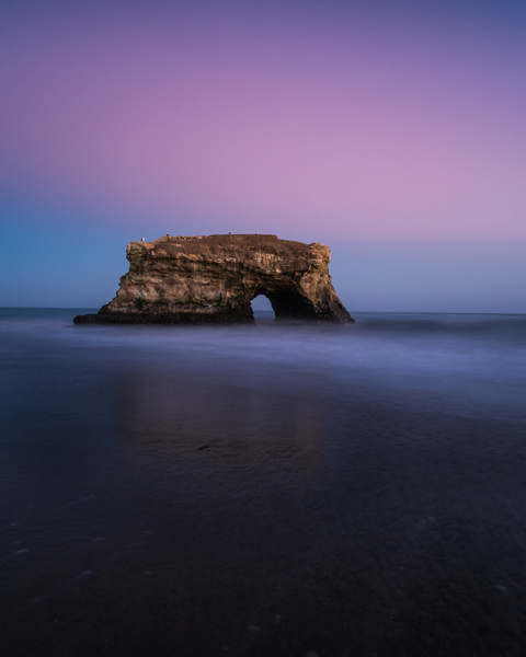 Natural Bridges Stae Beach_Sunset - Sun - Stan Pechner