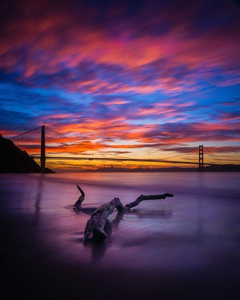 Kirby Cove_Golden Gate Brige_Sunrise - Sun - Stan Pechner