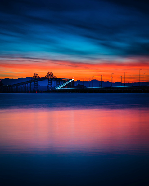 Richmond San Rafael Bridge_Sunrise - Sun - Stan Pechner