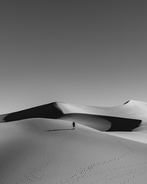 Solitude Sunrise_Death Valley_Mesquite Sand Dunes_Sunrise - Sand - Stan Pechner Photography