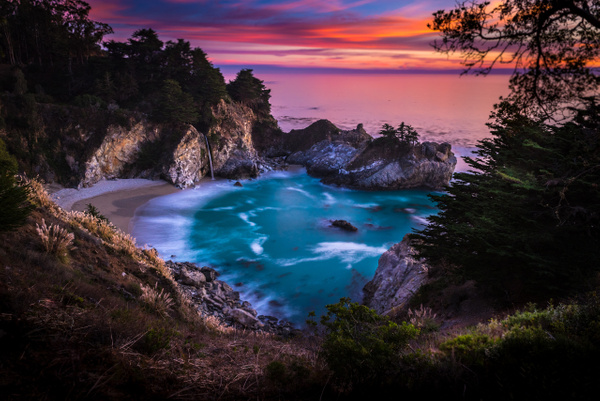 McWay Falls_Big Sur_Sunset - Home - Stan Pechner Photography