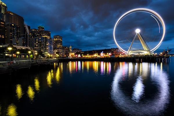 Seattle: The Seattle Great Wheel (Pier 57) - Spotlight: Seattle - Jonathan C. Watson Photography