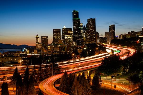 Seattle: The city skyline from Dr. Jose Rizal Park - Spotlight: Seattle - Jonathan C. Watson Photography