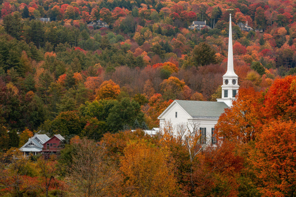 Stowe, Vermont in Autumn - Fine Art Photographer and Wall Art Photography