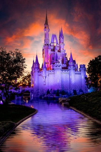 Magical Sunset at Magic Kingdom