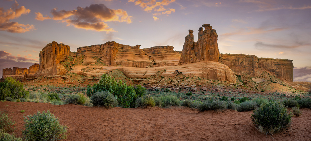 The Courthouse at Arches National Park, Utah