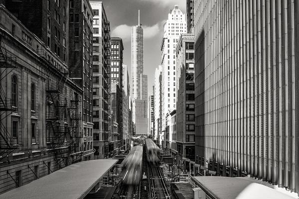 Chicago El Train Station