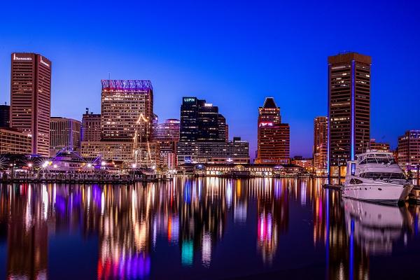 Downtown Baltimore Skyline - Cityscape Photography - John Dukes Photography