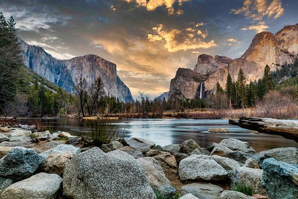 Yosemite National Park at sunset