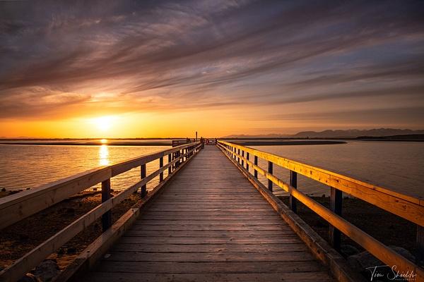 Crescent Beach Pier HDR 7885 1080P sRGB - Rockscapes - Tim Shields Landscape Photography